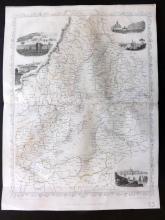 Tallis (Pub) 1858 Map of The Baltic Sea. Sweden Russia