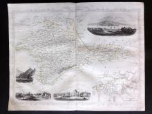 Tallis (Pub) 1858 Map of The Crimea. Russia Ukraine