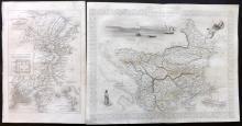 Tallis (Pub) 1858 Pair of Maps of Turkey & Constantinople