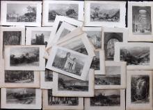 Allom, Thomas 1834 Lot of 24 Prints from Westmoreland, Cumberland, Durham?