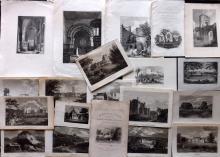 British Views 19th Century Lot of 20 Engravings