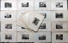 British Views C1815 Lot of 29 Engravings from the Antiquarian Itinerary