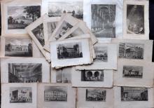 London 19th Century Lot of 25 Antique Prints