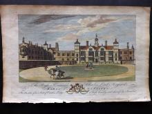 Morant, Philip 1768 Hand Coloured Print of Easton Lodge, Essex