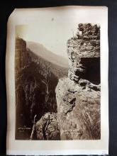 Photographs - Australia C1890 Albumen Print of Mount Victoria & Coogee Bay, Sydney