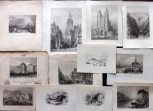 World Views 19th Century Lot of 12 Steel Engravings