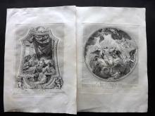 Granet, Jean Joseph 1736 Pair of Prints of Artwork of Les Invalides