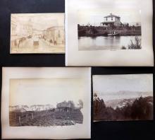 New Zealand C1885 Group of 5 Albumen Prints. Wellington & Avonside