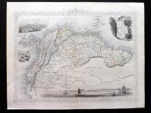 Tallis, John (Pub) 1852 Map of Venezuela, New Granada, Equador and The Guyanas