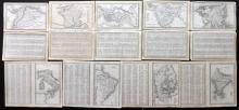 Starling, Thomas 1834 Mixed Lot of 9 Maps