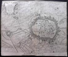 Rapin de Thoyras, Paul & Tindal, Nicholas 1743 Map of the City of Douai, France