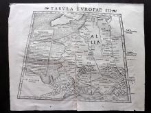 Munster, Sebastian 1542 Double Page Woodcut Map of France