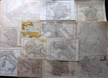 Maps 18th-19th Century. Mixed Lot of 14