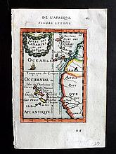 Mallet, Alain Manesson 1683 Hand Coloured Map of Spain Canary Islands, Cape Verde