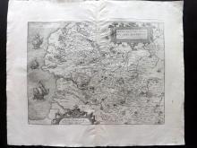 Guicciardini, Lodovico 1581 Map of the County of Artois, France