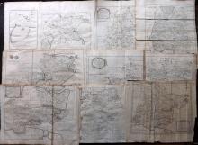 Essex - Bowen, Thomas & Emanuel 1768 Lot of 10 Maps From Morant's Essex