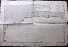 Depot de la Marine 1894 Nautical Chart of Gibraltar & Spain Coast