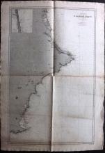 Depot de la Marine 1893 Nautical Chart of Spain Coast, Cartagena to Valencia