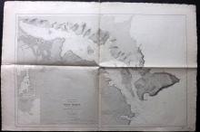 Depot de la Marine 1892 Nautical Chart of Port Mahon, Minorca, Spain