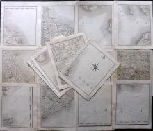 Cary, John 1794 Lot of 16 Sectional Maps from Cary's New Map of England and Wales