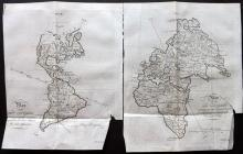 Buffon, Comte de & Vaugondy, Robert de 1785 Pair of Copper Engraved Maps of the Continents