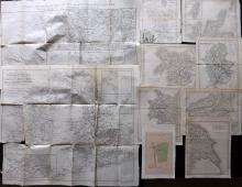 UK C1760-C1870 Lot of 10 Maps. Counties etc