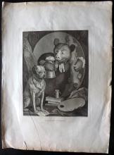 Hogarth, William & Cook, Thomas 1812 Copper Plate. The Bruiser. C. Churchill