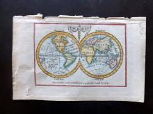 Turner, Richard 1802 Hand Coloured Hemisphere Map. Cook's Voyages
