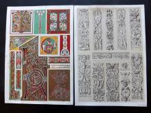 Jones, Owen 1856 Group of 4 Architectural Design Prints. Renaissance etc