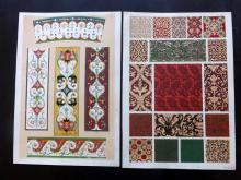 Jones, Owen 1856 Group of 5 Architectural Design Prints. Middle Ages, Arabian, Renaissance