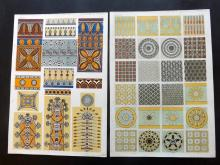 Jones, Owen 1856 Group of 5 Architectural Design Prints. Nineveh, Persia, Italian, Greek
