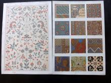 Jones, Owen 1856 Group of 6 Architectural Design Prints. Greek, Hindu