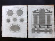 Langley, Batty - Mount Vernon, Virginia USA 1770 Pair of Architectural Prints