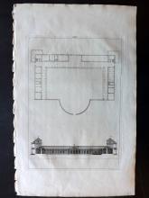 Palladio, Andrea 1721 Architectural Print. PL 46
