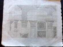 Palladio, Andrea 1721 Large Architectural Print. PL 94