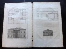 Palladio, Andrea 1721 Pair of Architectural Prints. PL 57 & 58