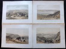 Roberts, David (3rd Edition) 1887 Group of 6 Holy Land Prints. Israel