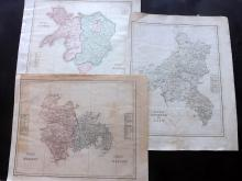 Arrowsmith, Aaron 1820's Group of 5 Hand Coloured British Dioceses Maps