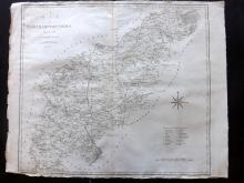 Cary, John 1806 Large Map of Northamptonshire from Camden's Britannia