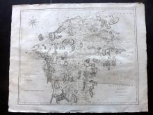 Cary, John 1806 Large Map of Westmoreland from Camden's Britannia
