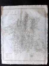 Cary, John 1806 Large Map of Worcestershire from Camden's Britannia