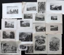 Derbyshire C1790-1870 Lot of 18 Topography Prints