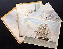 Fothergill, Charles William C1890's Group of 4 Fine Maritime Watercolours.