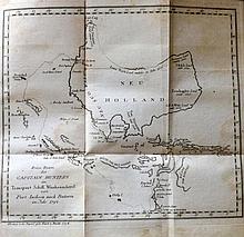 Australia - Hunter, John - Hunter's historische Nachrichten, Upside down Map of Australia, 1794