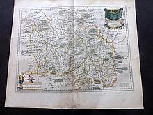 Blaeu, Willem C1645 Hand Coloured Map. Bourbon, France