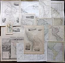 Americas 18th-19th Century. Lot of 13 Maps. South & Central America with West Indies