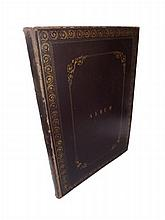 European Costume, Lot of 60 Lithographs Contained in Folio Morocco Gilt Album