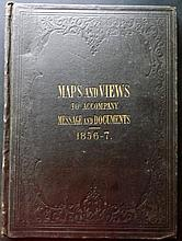 Nicholas, A. O. P (Pub) Maps and Views to Accompany Message and Documents, 12 USA Maps, 1856-7, Inscribed George Sykes, US Politician