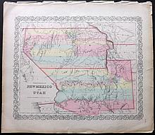 Colton, Joseph Hutchins 1856 Map of the Territories of New Mexico and Utah