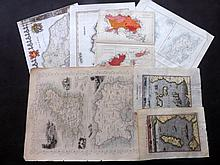 Channel Islands & Isle of Man 1683-C1900 Lot of 7 Maps. Jersey, Guernsey, IOM